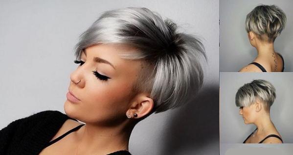 Damen grau haare kurze 37 Kurzhaar
