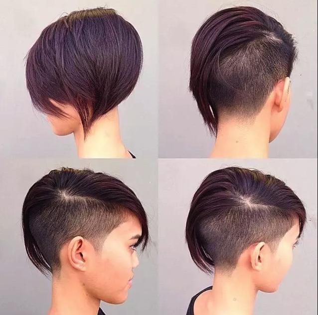 Grau und lila! Diese Kombination ist wirklich toll bei kurzen Haaren!